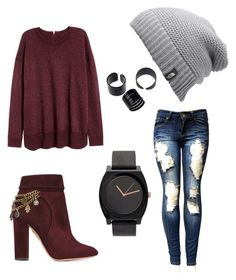 """Season- winter"" by nerdypanda777 ❤ liked on Polyvore featuring Aquazzura and The North Face"