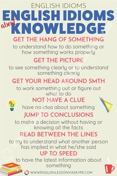 Common English Idioms about Knowledge - Intermediate Level English English Vocabulary Words, Learn English Words, English Idioms, English Phrases, English Lessons, English Grammar, French Lessons, Advanced English Vocabulary, English English