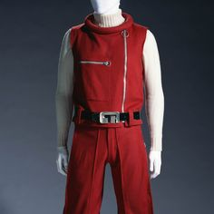 1966-unknown country, A vest, knickerbockers, and sweater worn by men; the vest and sweater is made from wool, and the knickerbockers and belt is made from leather, KCI Digital Archives