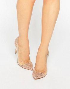 Zapatos de salón transparentes con diseño en dos partes y adornos Pristinn de Steve Madden