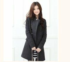 Amazon.co.jp: コート トレンチコート アウター 2列ボタン ポケット付き 秋冬 レディース xy310-dy01: 服&ファッション小物