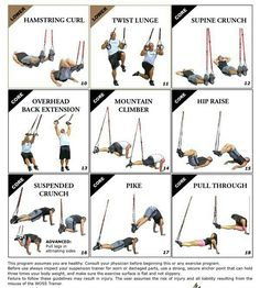 TRX Workout Routine - pull through looks interesting. Might need to test that.