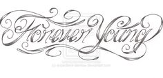 Forever Young custom tattoo by expedient-demise.deviantart.com on @deviantART