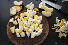 Prăjitură fără coacere cu mere, biscuiți și budincă de vanilie | Savori Urbane I Foods, Cantaloupe, Bakery, Recipies, Deserts, Cheese, Fine Dining, Recipes, Postres