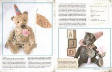 "My article, ""Behind the Attic Door"", in the Spring 2011 issue of PRIMS magazine. Features my giraffe, red panda, teddy bear and skunk. They are made from mohair and created in a whimsical, primitive, antique style. BradyBearsStudio.blogspot.com"