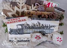 Hello sweet friends! Today, I am sharing a homespun Country Christmas Memory Folder.     I enjoy using beautiful country and vintage inspi...