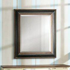"Uttermost Fabiano Black 36""x42"" Beveled Wall Mirror - #58631   Lamps Plus"