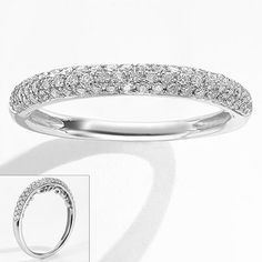 Simply Vera 14k White Gold 1 4 Ct T W Diamond Wedding Ring
