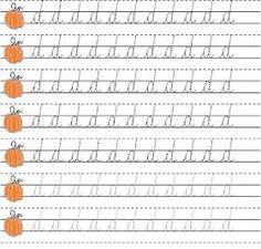Alphabet Writing Practice, Cursive Writing Worksheets, Alphabet Worksheets, Learning Letters, Preschool Worksheets, Perfect Handwriting, Learn Handwriting, Cursive Handwriting, Preschool At Home