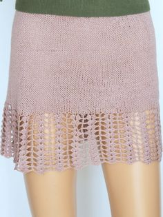Vintage Style beige Lace Spring Party Skirt Knit by ettygeller