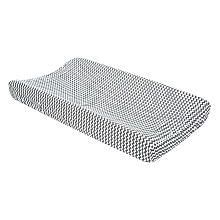 Trend Lab Gray and White Chevron Changing Pad Cover