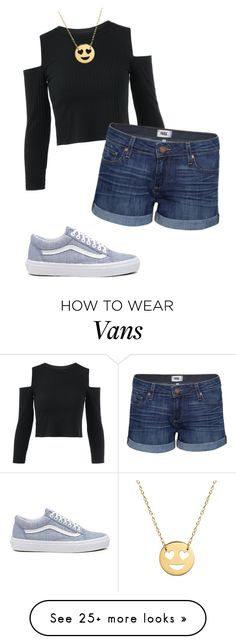 """Cool Blue Happiness"" by benjiedaisy on Polyvore featuring Jane Basch, Paige Denim, Vans, Summer and 2017"