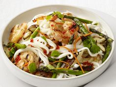 Grilled Shrimp and Noodle Salad recipe from Food Network Kitchen via Food Network