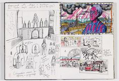 © Grayson Perry - Sketchbook, The Vanity of Small Differences Best Sketchbook, Artist Sketchbook, Sketchbook Pages, Grayson Perry Art, Ap Studio Art, China Art, Visual Diary, Sketchbook Inspiration, Book Art