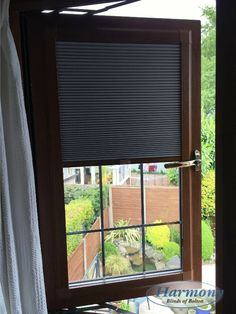 Blackout Pleated Blind in a golden oak frame to match windows Perfect Fit Blinds, Fitted Blinds, Golden Oak, Open Window, Chronic Illness, Windows, Decorating, Frame, House