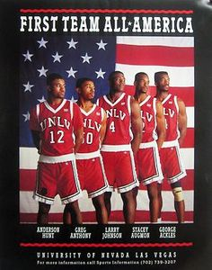 Anderson Hunt, Greg Anthony, Larry Johnson, Stacy Augmon And Greg Ackles One Of The Greatest Basketball Teams Ever. Basketball History, Basketball Is Life, Basketball Pictures, Basketball Legends, Basketball Uniforms, Sports Pictures, College Basketball, Basketball Players, Netball