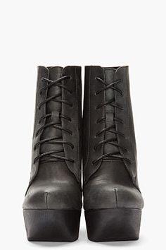 #ssense.com               #women boots              #Jeffrey #Campbell #Black #Leather #Cut-out #Roxie #Wedge #Boots #women #SSENSE                         Jeffrey Campbell Black Leather Cut-out Roxie Wedge Boots for women | SSENSE                             http://www.seapai.com/product.aspx?PID=666930