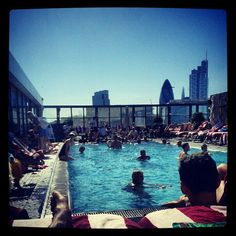 Shoreditch House in Shoreditch, Greater London Shoreditch House, Small Boutique Hotels, Rooftop Pool, Greater London, East London, Four Square, New York Skyline, Kitchen Ideas, Places