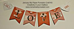 FREE Stampin' UP! Markers – My Paper Pumpkin – January Kit – How to make Bag A Lopes