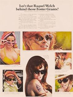 1968 Foster Grant Advertisement featuring Raquel Welch