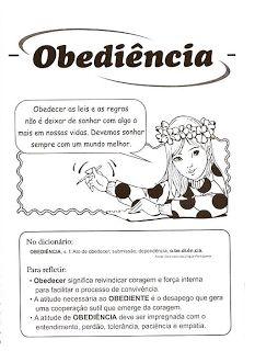 Atividade de Ensino Religioso - Obediência | Atividades Educativas