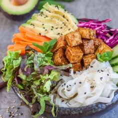 bahn mi tofu bowl