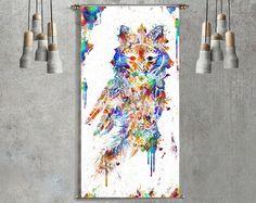 Geometric Elephant Mandala Tapestry Wall by ThestoryoftheFall
