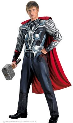 Thor is our favorite Avenger! Who is yours?  Check out the Thor costume on our website   http://www.heavencostumes.com.au/avengers-thor-superhero-men-s-costume.html