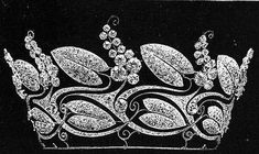 A unusual belle epoque tiara, 1900, by Boucheron. In some ways a very Art Nouveau design, with large diamond leaves intertwining sinuously with diamond berries.