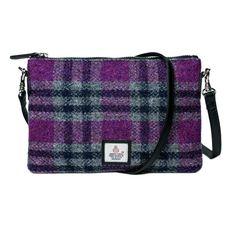15347d80a662 Authentic Scottish Harris Tweed - Shoulder Bag - Pink Check