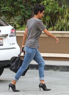 Halle Berry #denim jeans