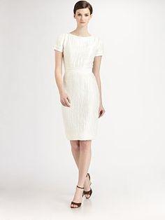 Carolina Herrera - Textured Linen Dress