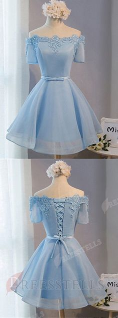 homecoming dress 2017a line homecoming dressoff the shoulder homecoming dressabove knee homecoming dressblue homecoming dresstulle homecoming dresshomecoming dress with appliques