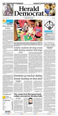 #Newspaper #FrontPage #Design heralddemocrat.com