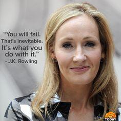 'Harry Potter' author J.K. Rowling on failure: It's 'inevitable'