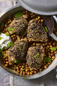 Za'atar is a Middle Eastern spice blend of sesame and thyme that gives savoury nuttiness to any dish. Use it in Nigel Slater's easy chicken and chickpea bake.