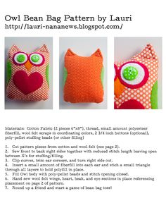 I have been spending the last few days making bean bags for my grandchildren using up colorful fabric, buttons,and wool felt scraps from my...