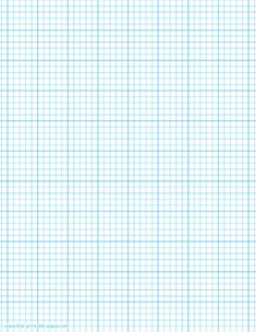 Printable graph paper template with five squares per inch. It has smaller squares and it's marked every inch with thicker index lines. Printable paper size: US Letter. Dimensions: x 11 in. Grid Paper Printable, Ruled Paper, Paper Clip, Junk Journal, Paper Size, Cross Stitch Patterns, Free Printables, Paper Crafts, Lettering