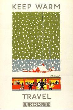 Keep Warm London Underground poster