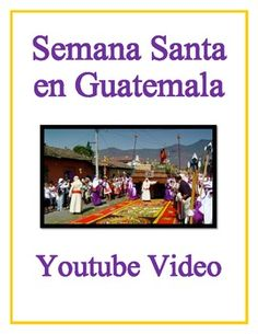 FREE Easter in Guatemala - Semana Santa Authentic Video Activity