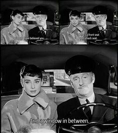 Audrey Hepburn in Sabrina Audrey Hepburn Movies, Aubrey Hepburn, Audrey Hepburn Quotes, Golden Age Of Hollywood, Classic Hollywood, Old Hollywood, Classic Movie Stars, Classic Movies, Iconic Movies