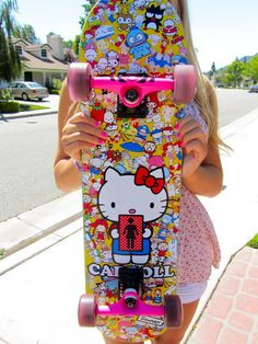 Find images and videos about pink, skate and hello kitty on We Heart It - the app to get lost in what you love.