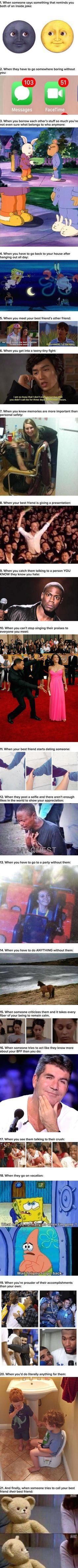 Best friends will know