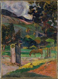 Tahitian Landscape / Paul Gauguin / 1892 / oil on canvas / at the Met