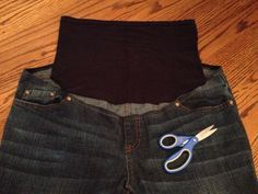 DIY Maternity Jeans - another one, i like to compare & see which method works best.