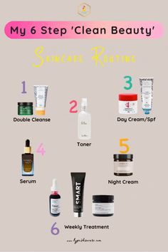 Find out the skincare products I recommend for your skin type, and how to use your clean beauty products in the right order. Also, get my top  clean beauty brands.