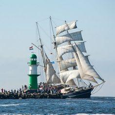 Während der Hanse Sail Rostock - die größte maritime Veranstaltung in Meck-Pom