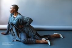 """#AishaHinds from #WGN America """"Underground"""" & FOX """"Shots Fired"""" slaying in these Silver Grey Pointed Toe #pumps by #torisoudan 👠  Photo Cred: @regardmag @regardstylehouse"""