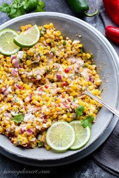 Corn Salad Recipes, Corn Salads, Summer Corn Salad, Summer Salads, Veggie Dishes, Side Dishes, Roasted Corn Salad, Make Ahead Salads, Mexican Street Corn Salad
