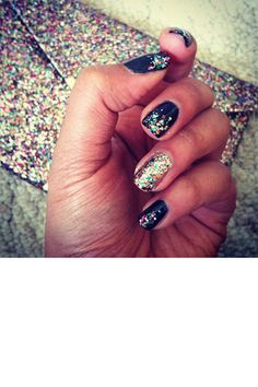 Might be enough glitter so that my other nails aren't jealous of the super blingy nail.